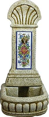DEGARDEN AnaParra Fuente de Pared Azulejos para Jardín o Exterior ...