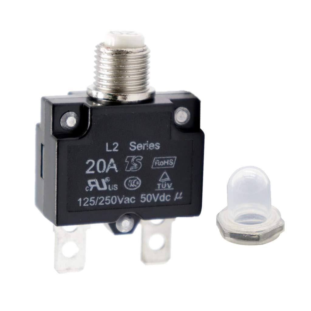 Homyl 20Amp Circuit Breaker Thermal Breaker Thermal Protector Switch for Generator