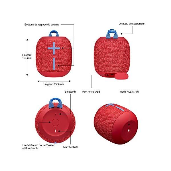 ULTIMATE EARS WONDERBOOM 2, Enceinte Portable Bluetooth Sans Fil, Son à 360 Degrés avec Basses Puissantes, Étanche / Anti-Poussière IP67, Capacité à Flotter, Portée de 30 Mètres - Radical Red 6