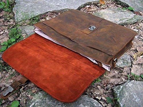 Jsix Bolso cartera cuero de hombre Cartera Maletín Portafolios de Piel  Marrón (Marrón)  Amazon.es  Zapatos y complementos aaf8b75e5119