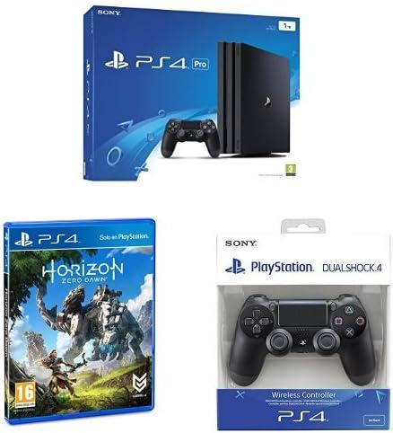 PlayStation 4 Pro (PS4) - Consola de 1 TB + Horizon Zero Dawn - Edición Normal + Sony - DualShock 4 Negro V2 (PS4): Amazon.es: Videojuegos