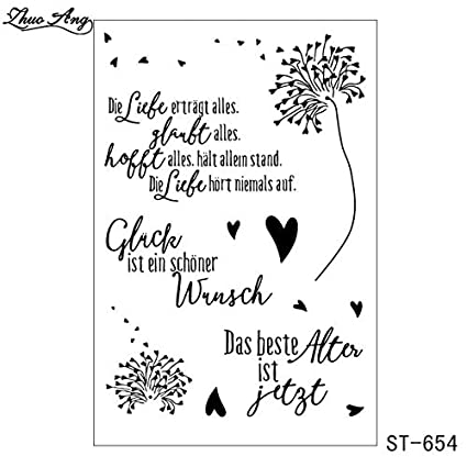 Amazoncom Davitu German Clear Stamps For Diy Scrapbooking Photo