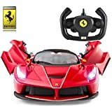 La Ferrari Remote Control Cars for Kids | Opening Doors, Lights | 1:14 Official Licensed 2WD Drifting LaFerrari Aperta Electric Radio Controlled RC Car Toys for Boys Girls Kids | F150 Model Red 40Mhz