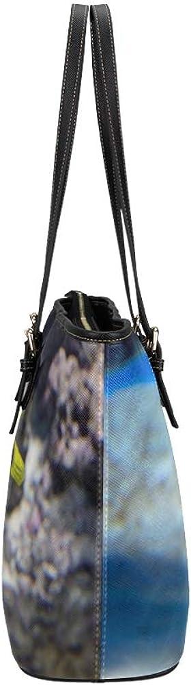 Handbag Decorations Spiny Fish And Dolphins Leather Hand Totes Bag Causal Handbags Zipped Shoulder Organizer For Lady Girls Womens Handbag Medium