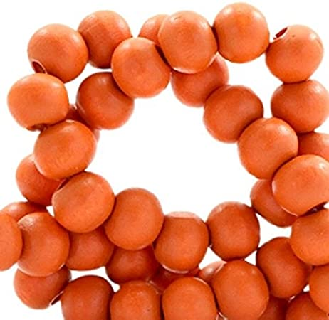 6 mm,Armb/änder Sadingo Holzperlen,Holzkugeln,Grau,Perlen zum basteln und auff/ädeln,50 St/ück Ketten,Anthrazit