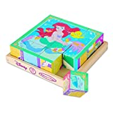 Melissa & Doug Disney Princess Wooden Cube Puzzle With Storage Tray - 6 Puzzles in 1