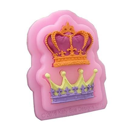 Herramienta de decoración Cupcake DIY para hornear 2 Conjuntos De Coronas Para Princesa Queen Molde de