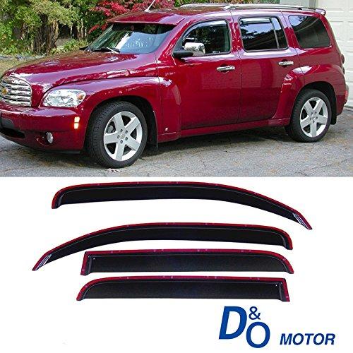 MGPRO 4pcs In-Channel Style Front + Rear Smoke Sun/Rain Guard Vent Shade Window Visors For 06-11 Chevrolet HHR Chevrolet Hhr Vent Visor