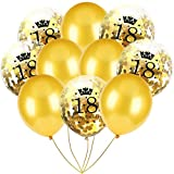 Inkach- Confetti Balloons, 10pcs 12'' Latex Party Balloons for Baby Shower Birthday Decor (C)
