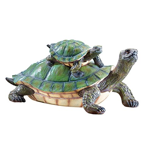 Catching Turtle Garden Statue Green
