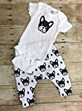 Boston Terrier outfit, onesie and leggings Boston Terrier outfit