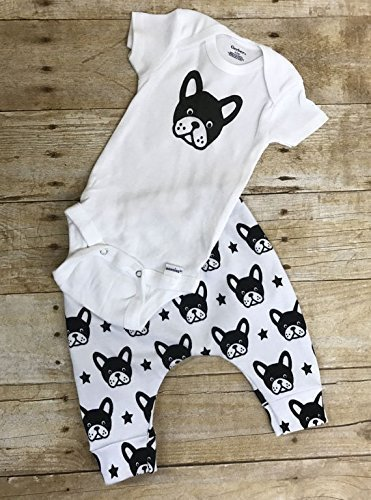 Boston Terrier outfit, onesie and leggings Boston Terrier outfit by The Nerdy Birds