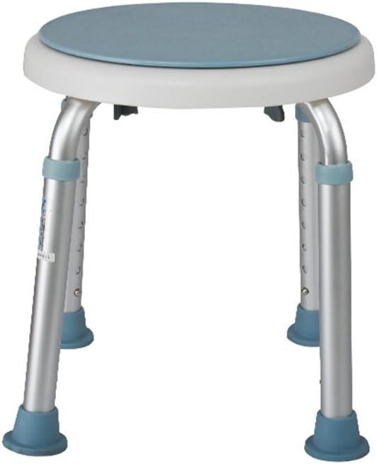 Sillas con inodoro Ducha y taburetes de baño Ancianos | minusválido | Silla de baño para niños Taburete Antideslizante para Taburete de baño - Taburete de Aluminio | Ajustable 136kg