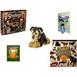 "Children's Fun & Educational Gift Bundle - Ages 6-12 [5 Piece] - The Lord of The Rings Stratego Game - Martinex Moomin Pappa Character Toy - Flopsie Yorky Plush 12"" - The Prince of Egypt Hardcover"