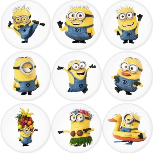DESPICABLE ME round badges 1.75