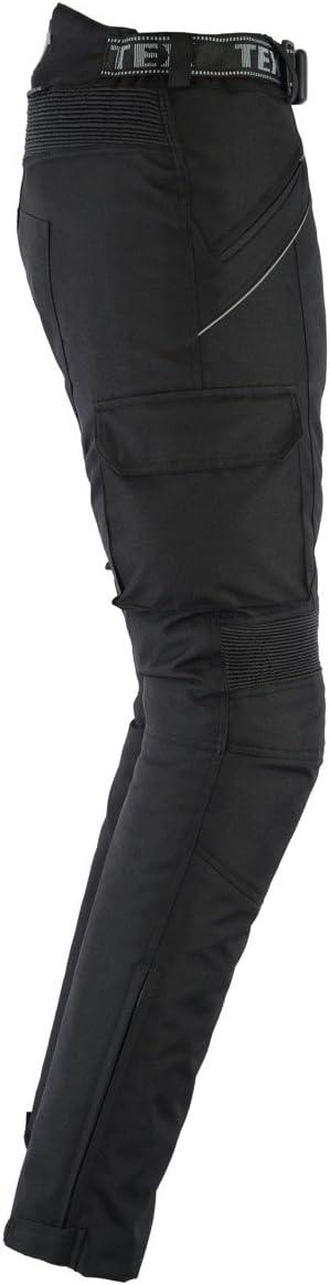 Toutes Tailles imperm/éable Noir uni W48 L34 Pantalon de Moto renforc/é