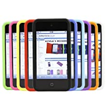 iTALKonline Apple iPod Touch 4th Generation (4G) 10 PACK PURPLE RED GREEN BLUE YELLOW BLA 10 PACK Soft Silicone Protective Armour Case Skin Cover Shell