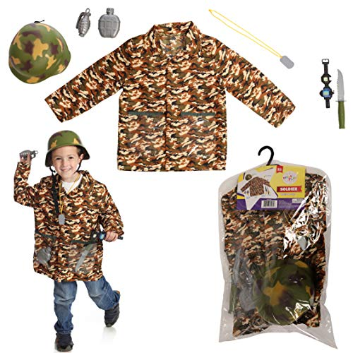 (Dress 2 Play Soldier Pretend Costume, Dress up Set Hard)
