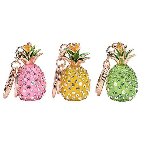CosCosX 3 pcs Handbag Keyring Rhinestone Charm Pendant Keychain Key Chain Bag Gift Car Pendant ()