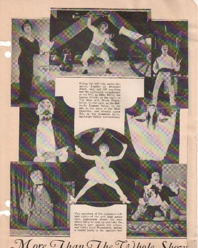 Circus Movie 1920's Clipping Magazine photo orig 1pg 8x10 M3851 from Fabulous Hollywood Memories