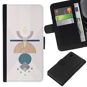 KLONGSHOP // Tirón de la caja Cartera de cuero con ranuras para tarjetas - Símbolos Vela Resumen Significado Arte Limpio - Sony Xperia Z1 L39 //