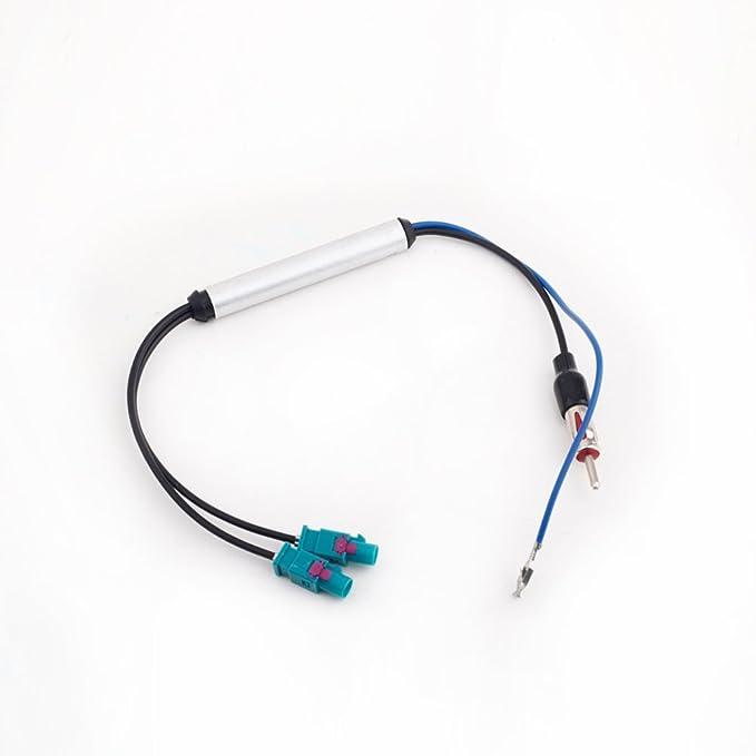 KKmoon Adaptador Antena Radio Estéro de Coche Cable Dual ...