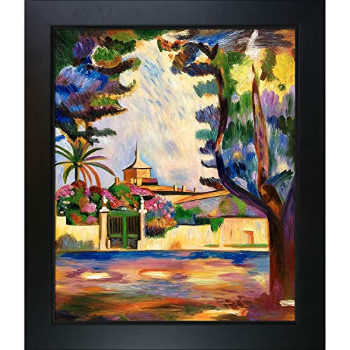 overstockArt Place des Lices Framed Oil Reproduction of an Original Painting by Henri Matisse, New Age Wood Frame, Black Finish