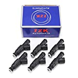 #9: JZK Fuel Injectors 6pcs/Set for Jeep Cherokee 4-Hole Upgrade Fuel Injector Set