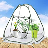 porayhut Pop Up Greenhouse Cover Flower House Mini Gardening Plant Flower Sunshine Room Room,Backyard PVC Greenhouse Cover for Cold Frost Protector Gardening Plants (Small)