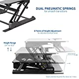 VIVO Height Adjustable Standing Desk Sit to Stand