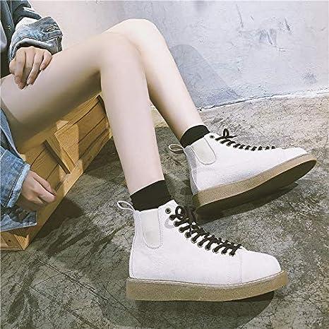 YMFIE Botas Cortas de otoño e Invierno, Zapatos de Mujer ...