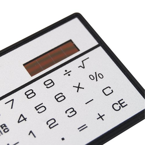 Veroda Mini Powered Credit Card Size Compact Solar Calculator Photo #5