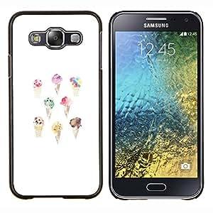 Stuss Case / Funda Carcasa protectora - Crema blanca de la acuarela Cono dulce Chef - Samsung Galaxy E5 E500