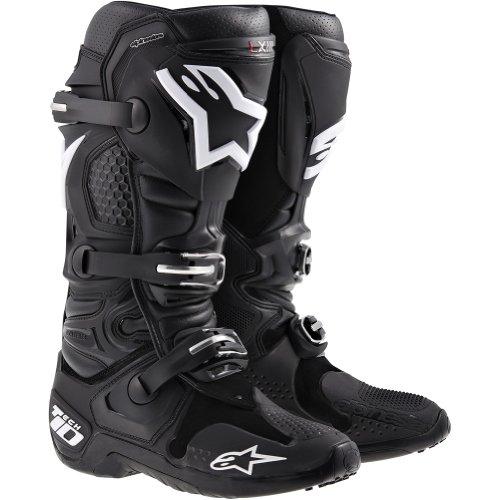 Alpinestars Tech 10 Men's MX Motorcycle Boots - Black / Size 11