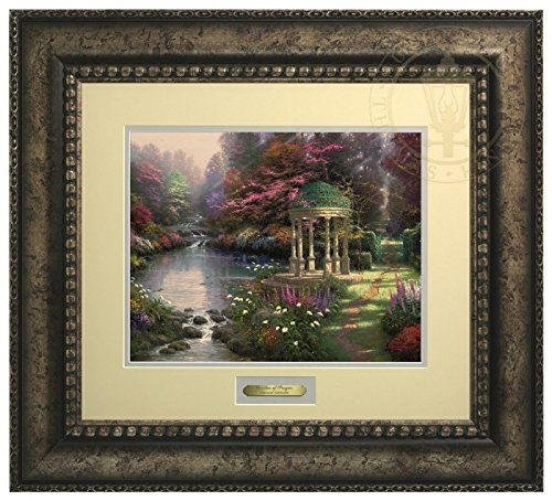 The Garden of Prayer - Thomas Kinkade Prestige Home Collection (Silver Frame) by Thomas Kinkade