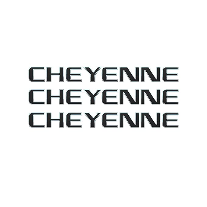 Amazon.com: 3 PCS EMBLEM CHEYENNE FOR CHEVROLET CHEYENNE ...