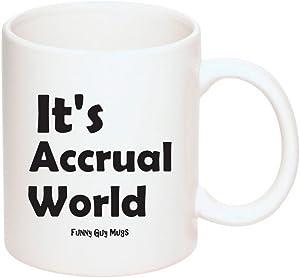 Funny Guy Mugs It's Accrual World Ceramic Coffee Mug, White, 11-Ounce