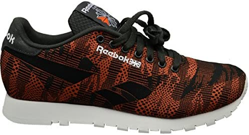 Reebok Classic Runner Jacquard Herren Sneaker Turnschuhe - Orange/Schwarz