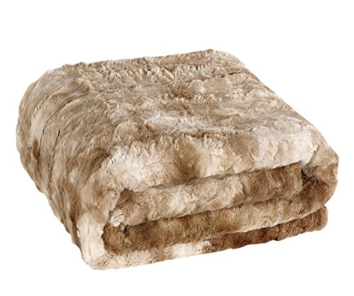 Brielle Faux Fur Oversized Throw, 50