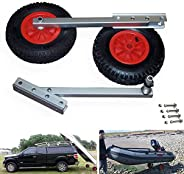 """Seamax Easy Load Boat Launching Wheels Set for Inflatable Boat & Aluminum Boat, with 12"""" Pneumatic Ti"""