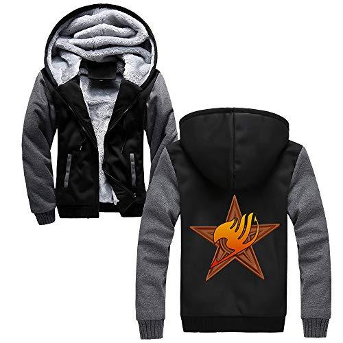Et Sweat shirt Fairy Capuche Hommes Automne Black Grey60 Imprimées Tail Confortable À Sweats Plus Hiver Épaissir Manteau Vogue Velours xxPZa