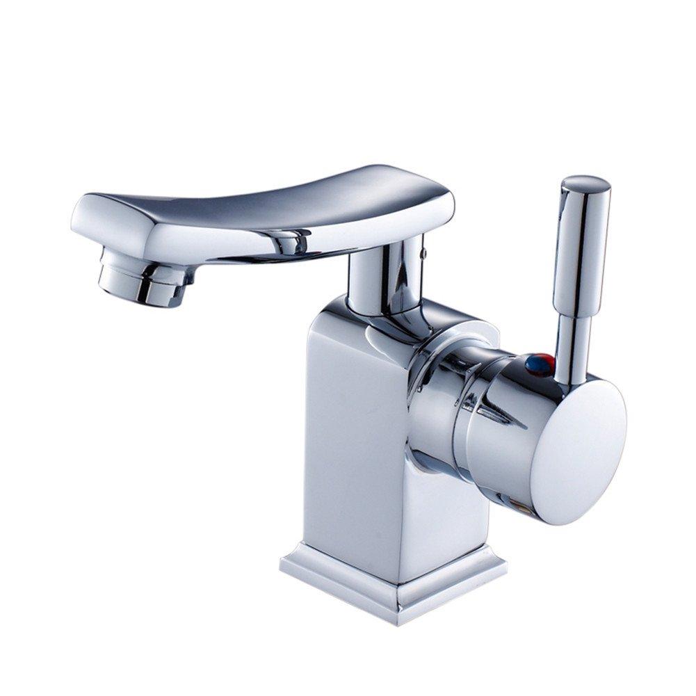 Bijjaladeva Antikes Waschbecken Kupfer Dreh Badezimmer Waschbecken Waschbecken Bad Warm und Kalt Kaiser Cap Bad Schrank Wasserhahn