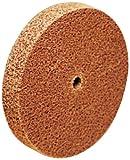 Scotch-Brite Cut and Polish Unitized Wheel, Aluminum Oxide, 18100 rpm, 3'' Diameter x 1/4'' Width, 1/4'' Arbor, 5A Fine Grit (Pack of 40)