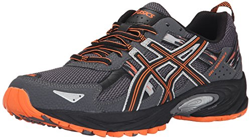 ASICS Men's Gel-Venture 5-M, Carbon/Black/Hot Orange, 8 M US