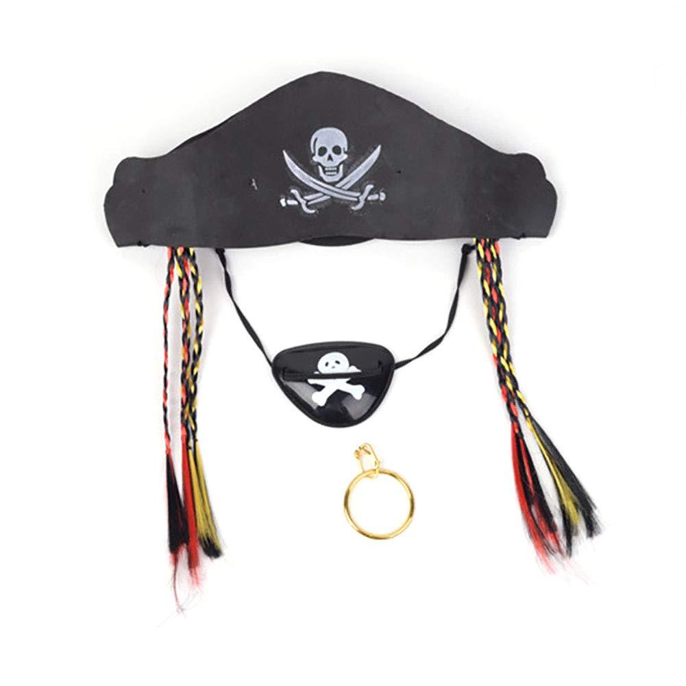 Newin Star Sombrero de fiesta pirata Captain Costume Cap Halloween ...