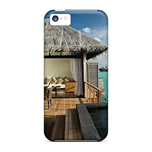 New Shockproof Protection Case Cover For Iphone 5c/ Water Bungalow In Maldives Case Cover