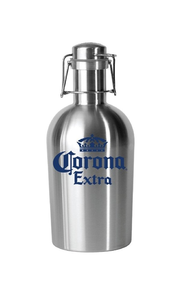 Corona Stainless Crown Logo Growler, Metallic