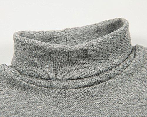 Leveret Solid Turtleneck 100% Cotton (8 Years, Light Grey) by Leveret (Image #4)
