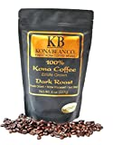 kona iced coffee - Kona Coffee Hawaiian Coffee 100% Gourmet Specialty Kona Coffee You Crave - Kona Bean Co.- Not A Blend -Dark Roast Ground Kona Coffee Beans - 8oz