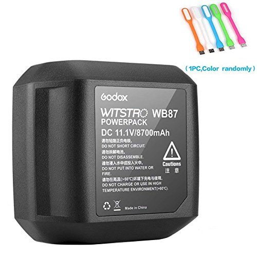 Godox WB87 Power Lithium Battery Pack DC 11.1V /8700mAh Compatible for Godox AD600 AD600B AD600BM AD600M Neewer NW600BM Flashpoint XPLOR 600 Studio Flashes